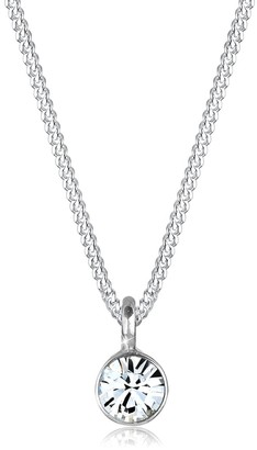 Elli Women's 925 Sterling Silver Xilion Cut Swarovski Crystals Pendant with Chain of Length 45 cm