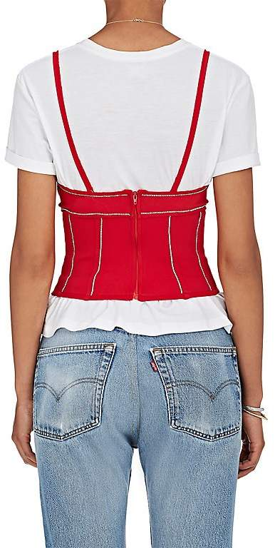 Area Women's Rhinestone-Embellished Jersey Corset Top