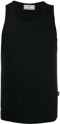 Ami Men Tank Top In Light Jersey With Tab On Side