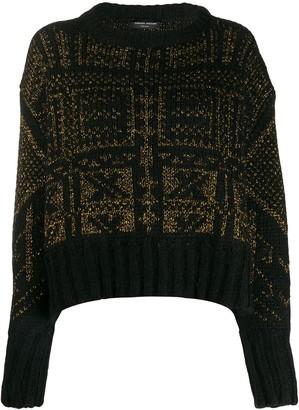 Roberto Collina Metallic-Thread Knit Sweater
