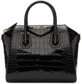 Givenchy Black Croc Small Antigona Bag