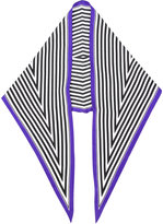 Haider Ackermann printed stripe scarf
