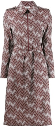 Acne Studios zigzag print shirt dress