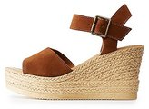 Charlotte Russe Bamboo Two-Piece Espadrille Wedge Sandals