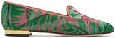 Charlotte Olympia Multicolor Flamingo Slippers