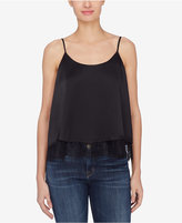 Catherine Malandrino Bailey Silk Lace-Trim Tank Top