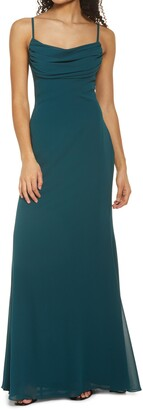 Lulus Captivated Cowl Neck Gown
