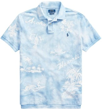 Polo Ralph Lauren Custom Slim-Fit Basic Mesh Hawaii Tie-Dye Polo