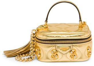 Moschino Dollar Sign Embellished Top Handle Bag