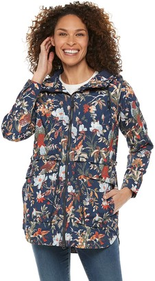Columbia Women's West Bluff Print Hood Rain Jacket
