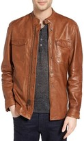 John Varvatos Men's Collection Zip Front Leather Jacket