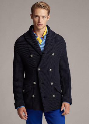 Ralph Lauren Cotton-Blend Shawl Cardigan