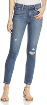 Paige Hoxton Skinny Ankle Jeans in Lexi Destructed