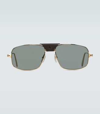 Cartier Eyewear Collection Square-framed aviator sunglasses
