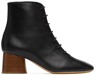 Mansur Gavriel Black Leather Lace-Up Boots