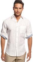 Tasso Elba Men's Textured Linen Shirt, Only at Macy's