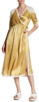 Topshop Lace Insert Satin Dress