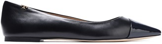 Tory Burch Smooth And Patent-leather Ballet Flats