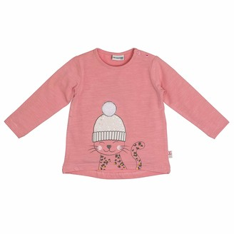 Salt&Pepper Salt and Pepper Baby Girls' Lovely Katze mit Pudelmutze Longsleeve T-Shirt