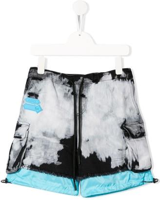 Cinzia Araia Kids Drawstring Tie-Dye Shorts