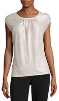 Liz Claiborne Long Sleeve Scoop Neck Knit Blouse-Talls