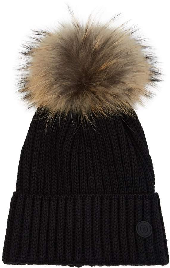Bogner Fur Pom-Pom Beanie Hat