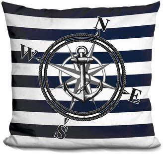 Nautica Lilipi Navy Striped Decorative Accent Throw Pillow