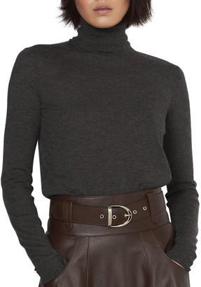 Ralph Lauren Collection Long-Sleeve Rib-Knit Cashmere Turtleneck Sweater