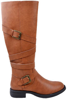 NEW YORK TRANSIT New York Transit Womens Halsey Riding Boots Flat Heel