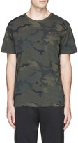 The Upside 'Jack' logo embroidered camouflage print T-shirt