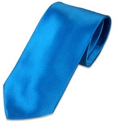 Forzieri Solid Blue Extra-Long Tie