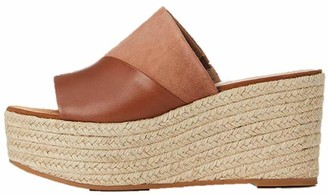 Find. Amazon Brand Women's Wedge Mule Leather Espadrille Slip-On Sandals Brown Tan) US 9