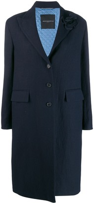 Ermanno Scervino Textured Single-Breasted Coat