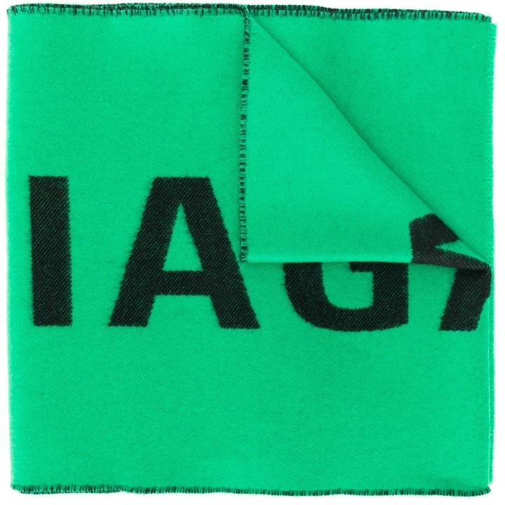Balenciaga long logo scarf