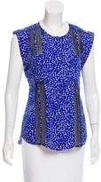 Veronica Beard Abstract Print Sleeveless Top