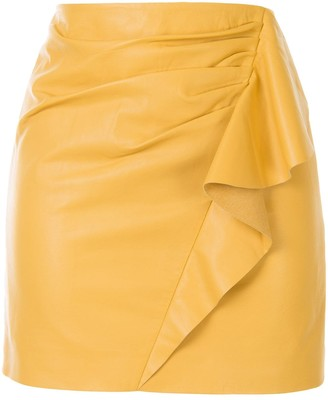Mason by Michelle Mason Ruffled Mini Skirt