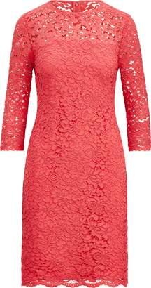 Ralph Lauren Scalloped-Hem Lace Dress