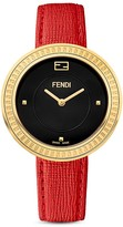 Fendi My Way Stainless Steel Watch with Leather Strap and Fox Fur Glamy, 36mm