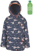Frugi Organic Children's Waterproof Shark Jacket, Blue/Grey