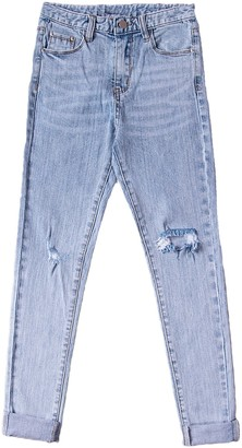 Goodnight Macaroon 'Natalie' Distressed High Waisted Cropped Skinny Jeans (2 Colors)