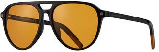 Ermenegildo Zegna Men's Solid Double-Bridge Aviator Sunglasses