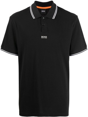 HUGO BOSS Striped-Trim Polo Shirt