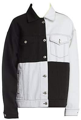 MSGM Women's Two-Tone Denim Jacket