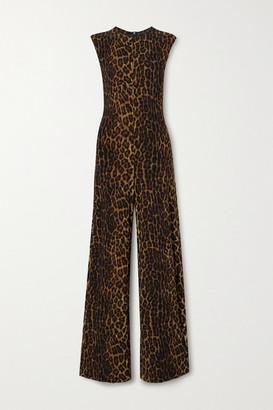 Norma Kamali Leopard-print Stretch-jersey Jumpsuit - Leopard print