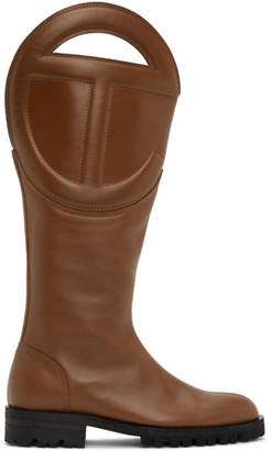 Telfar Brown Logo Boots