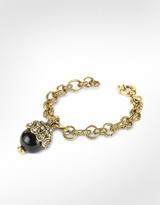 Charm & Chain Alcozer & J Onyx Charm Chain Bracelet