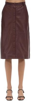 Bellis Leather Midi Skirt