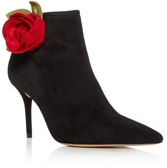 Charlotte Olympia Women's Rose Pointed-Toe High-Heel Booties