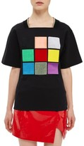 Topshop Women's Northside Applique Tee