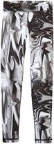 adidas Motion Bw Leggings (Kid) - Black/White Printed-Small